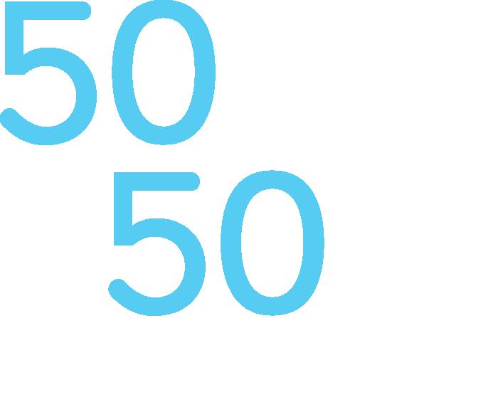 50+50 logo