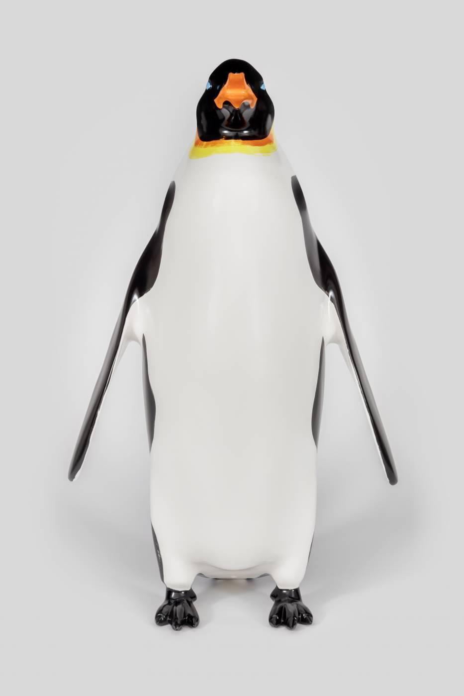 Penguin sculptures, frontal view