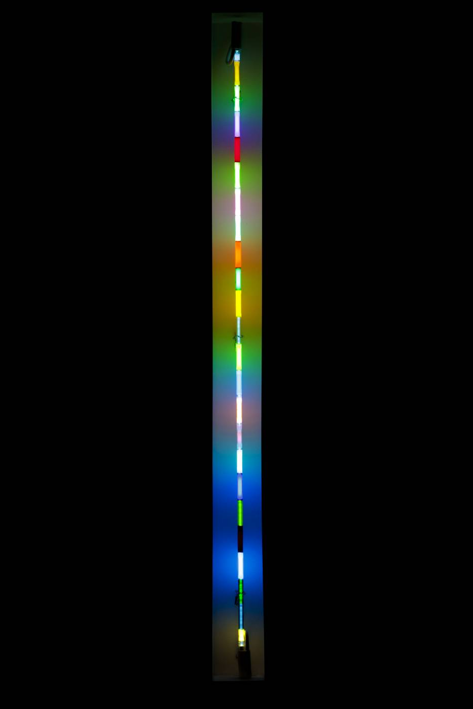 Light fixture with colorful gradient